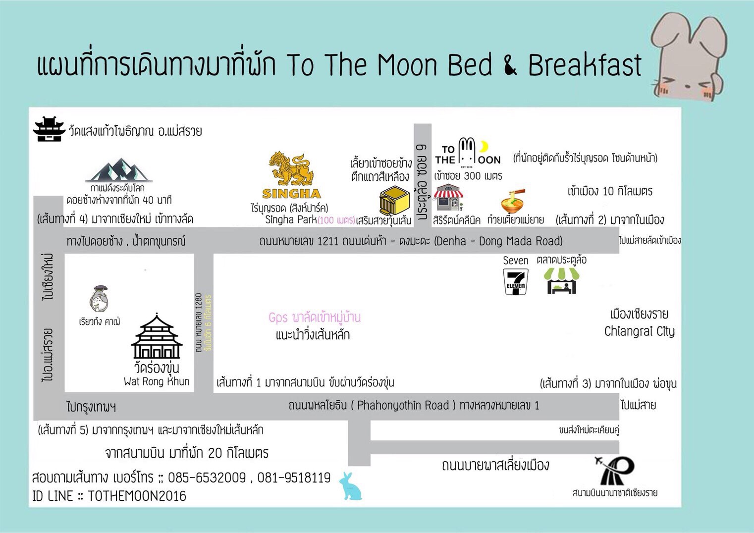 TO THE MOON Bed and Breakfast นครศรีดีย์